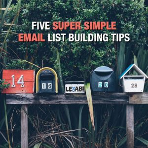 Email list building tips