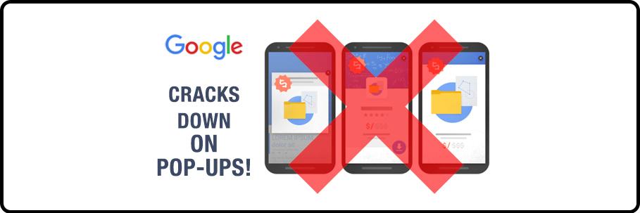 Google cracks down on pop ups