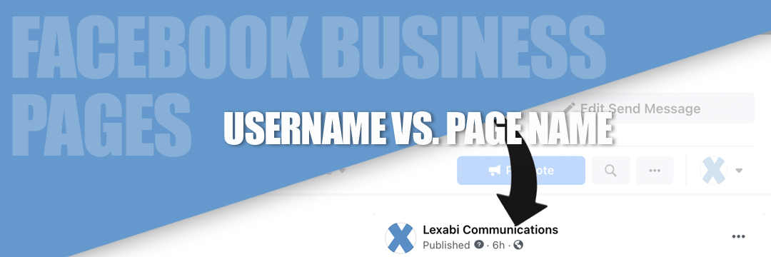 Facebook business page username page name